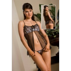 Mesh Glamour Babydoll and G-string