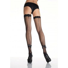 Seamed Fishnet Stockings
